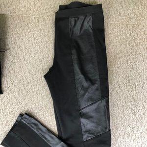 BCBG Faux leather leggings